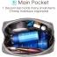 Mini Travel Makeup Zipper Pouch Image 1