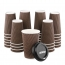 16 oz Geometric Pattern Paper Cup with Lid Image 2