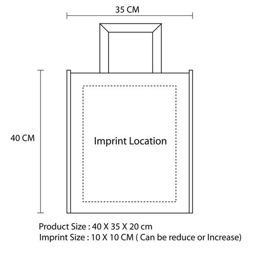 Capacious Tote Bag Imprint Image