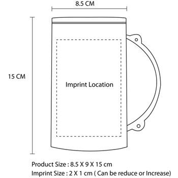 400ML Fruit Surface Frosty Mug