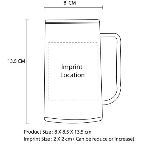 320ML Innovative Freezer Gel Filled Mug Imprint Image