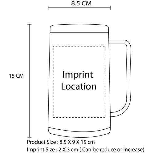 400ML Double Deck Freezer Mug