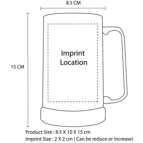 480ML Durable Tankard Frosty Mug Imprint Image