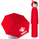 Doll Shape Umbrella With Case