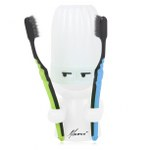 Happy Face Double Toothbrush Holder