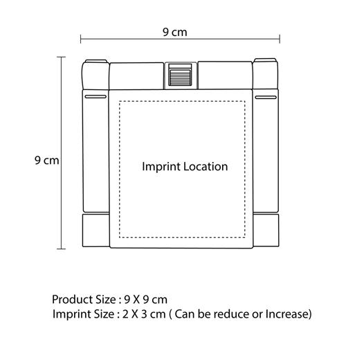 Desktop Foldable Calculator Imprint Image