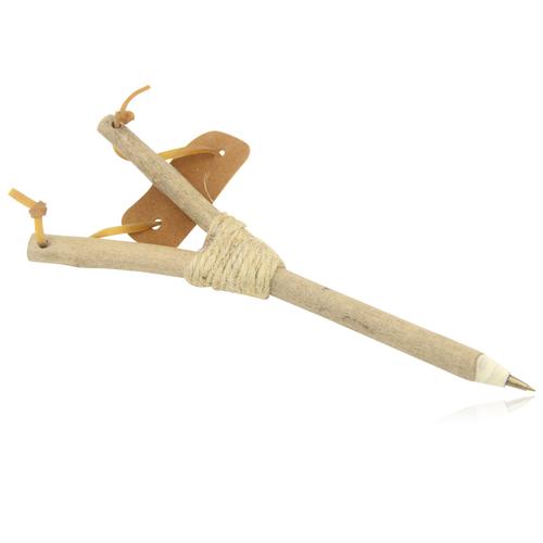 Natural Wooden Slingshot Pen
