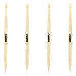 Hexagonal Drumstick Wooden Ballpoint Pen