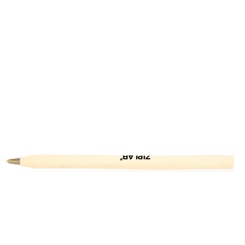 Round Wooden Ballpoint Pen Image 2