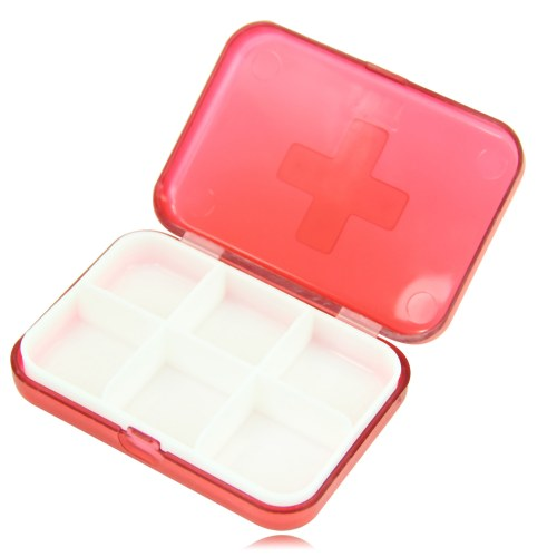 6 Compartment Travel Pill Box