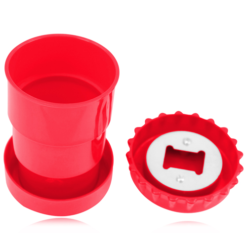 Collapsible Bottle Opener Cup