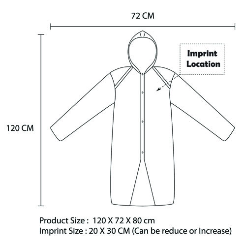 Disposable Adult Hood Raincoat