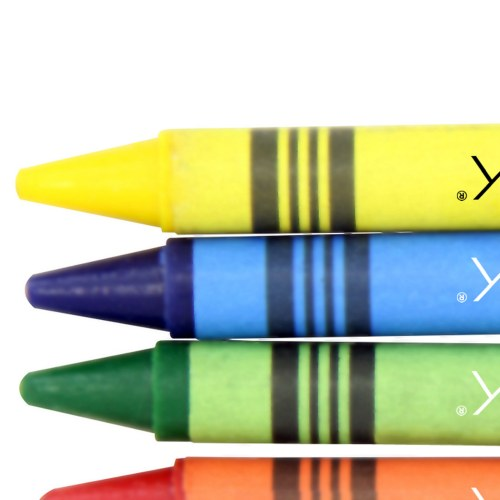 4 Pack Non-Toxic Color Crayons Image 7