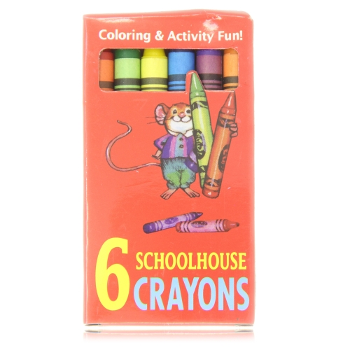 Set of 6 Fancy Non-Toxic Crayons