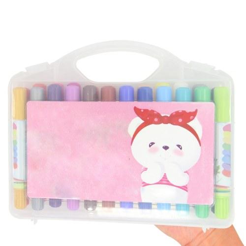 24 Crayons Coloring Pack Set