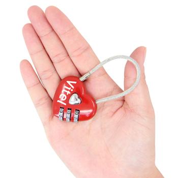 3 Dial Heart Shape Travel Padlock