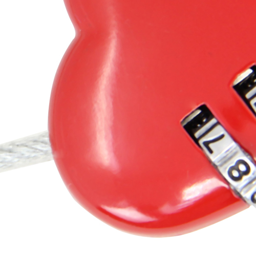3 Dial Heart Shape Travel Padlock Image 8