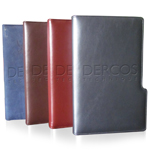 Leather Metal Spiral Padfolio With Diary