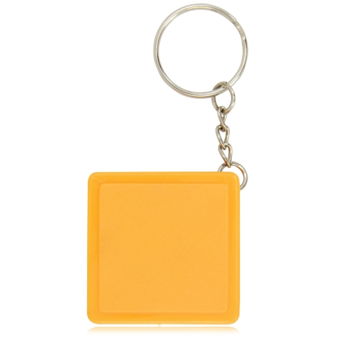 Square Measuring Tape Keychain Image 1