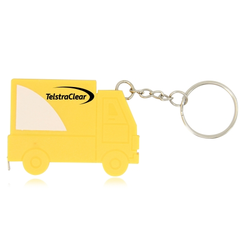 Truck Shape Measuring Tape Keychain Image 1