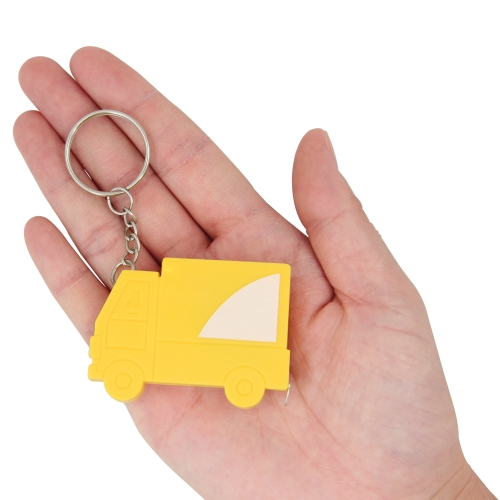 Truck Shape Measuring Tape Keychain