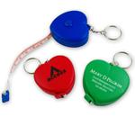 Heart Measuring Flexible Tape Keychain