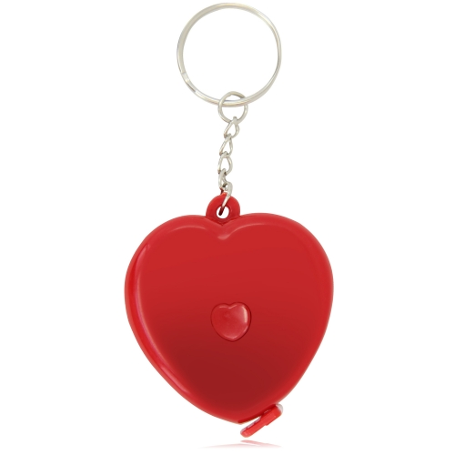Heart Measuring Flexible Tape Keychain Image 1