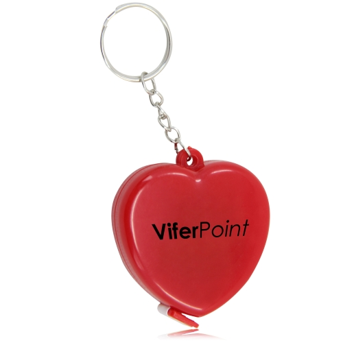 Heart Measuring Flexible Tape Keychain Image 5