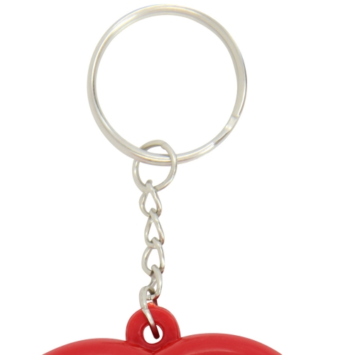 Heart Measuring Flexible Tape Keychain
