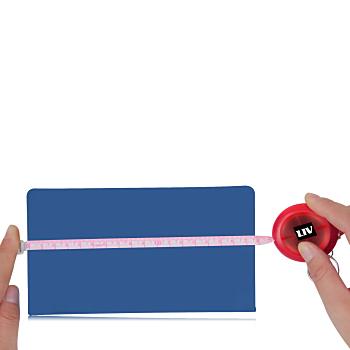 Transparent Round Measuring Tape Keychain