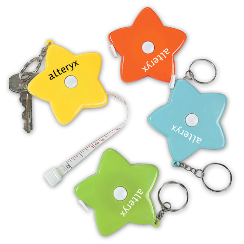 Star Shaped Measuring Tape Keychain