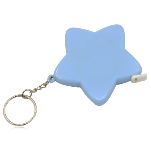 Star Shaped Measuring Tape Keychain Image 1
