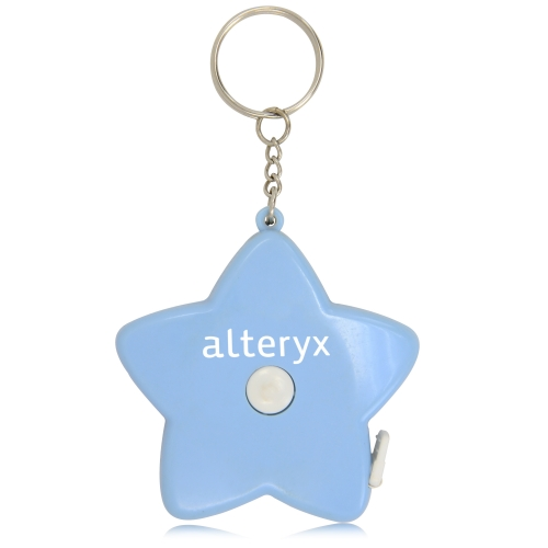 Star Shaped Measuring Tape Keychain Image 2