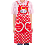 Lovely Heart Printed Apron