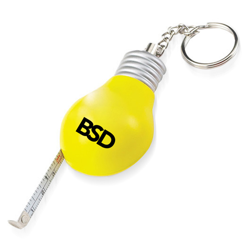 Bulb Shaped Measuring Tape Keyring