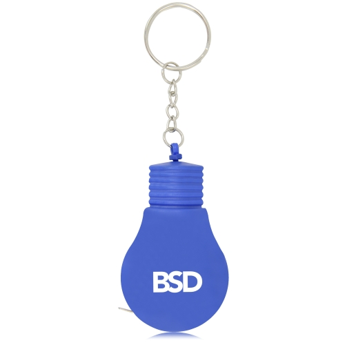 Bulb Shaped Measuring Tape Keyring Image 1