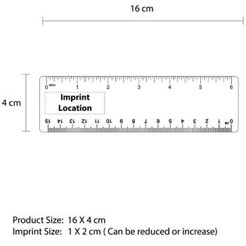 15cm Flat Bookmark Rular