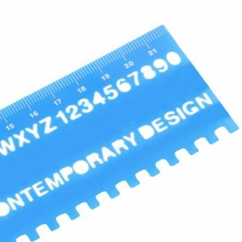 15cm Transparent Stencil Cutting Rular