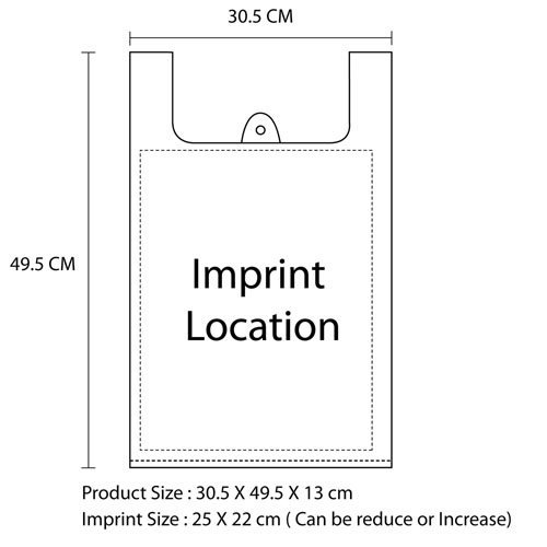 Plastic Singlet Carry Bag Imprint Image