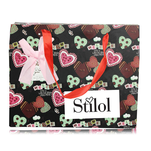 Gift Paper Bag With Ribbon