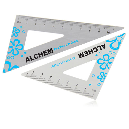 Aluminum Twain Triangular Rulers