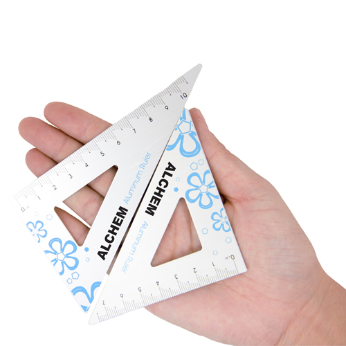Aluminum Twain Triangular Rulers Image 4