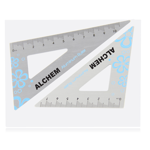 Aluminum Twain Triangular Rulers Image 5