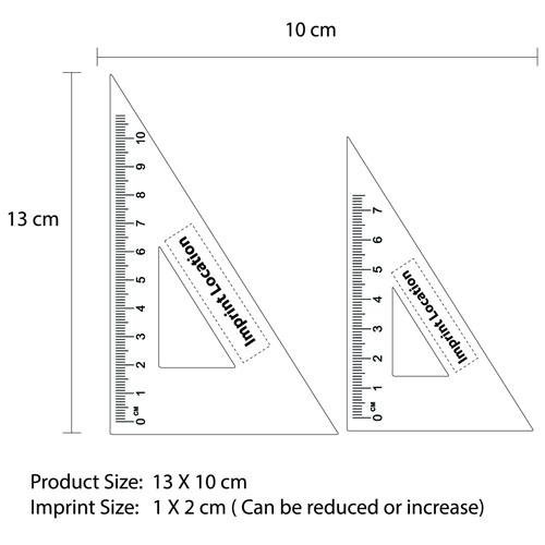 Aluminum Twain Triangular Rulers Imprint Image