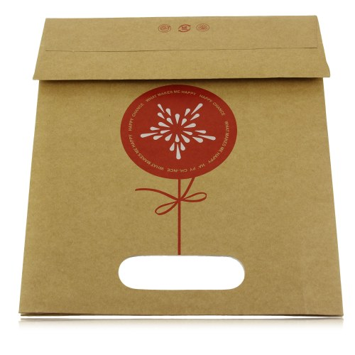 Die-Cut Handle Craft Paper Bag Image 9