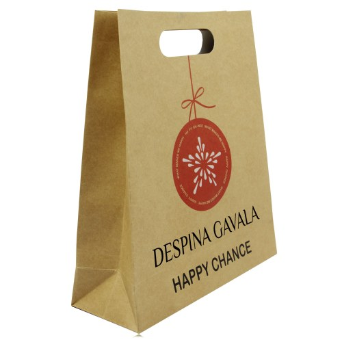 Die-Cut Handle Craft Paper Bag Image 1