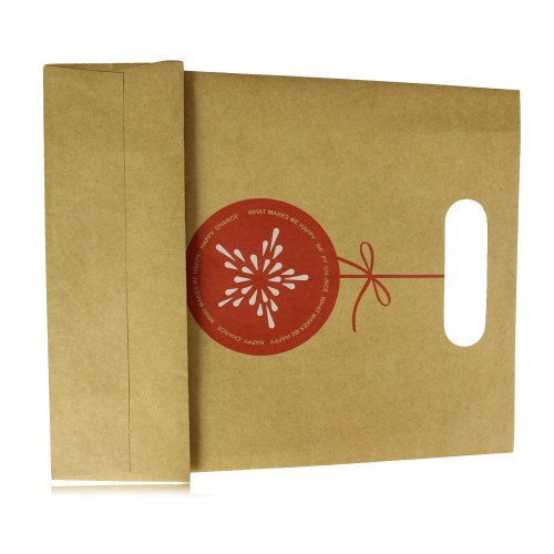 Die-Cut Handle Craft Paper Bag Image 5