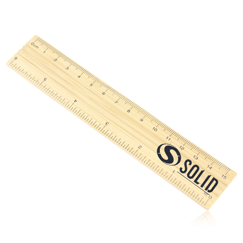 15cm Bamboo Ruler Image 2