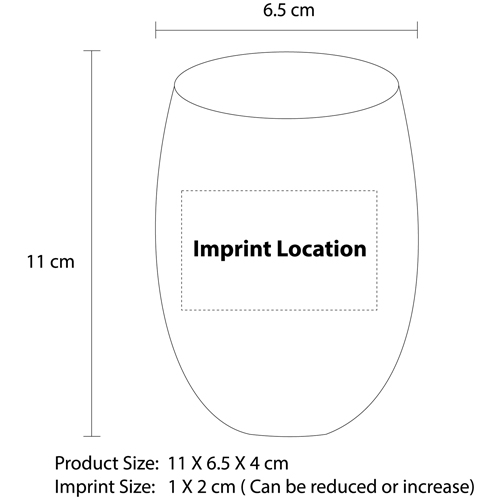 Special Round Lip Glass Cup Imprint Image