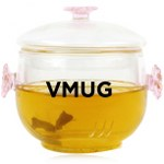 100ml Exquisite Flower Lid Teapot